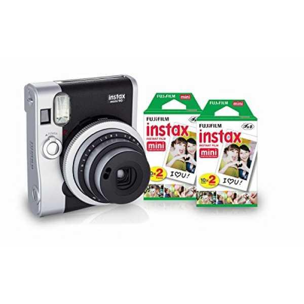 Fujifilm Instax Mini 90 Neo Classic Instant Camera (With 40 Shot Films)