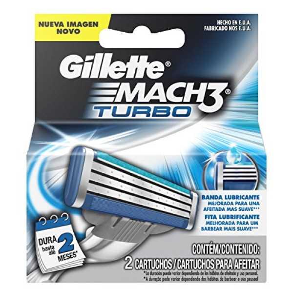 Gillette Mach3 Turbo Razor (2 Blades)