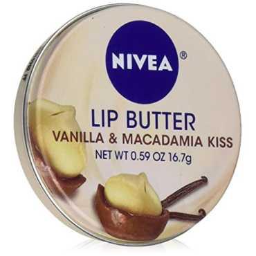 Nivea Lip Butter Lip Balm Loose Tin Vanilla Macadamia Kiss