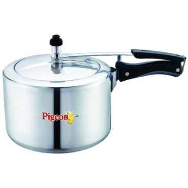 Pigeon 142 Aluminium Classic 3 L Pressure Cooker (Inner Lid) - Silver