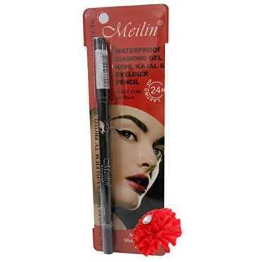 Meilin Waterproof Diamond Gel Kohl Kajal And Eye Liner Pencil (Black) - Black