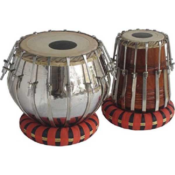 Sai Musical TB-0080 Sheesham Wood Brass Tabla (3Kg) - Silver