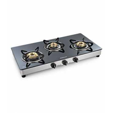 Sunflame Shakti Manual Gas Cooktop (3 Burners) - Black