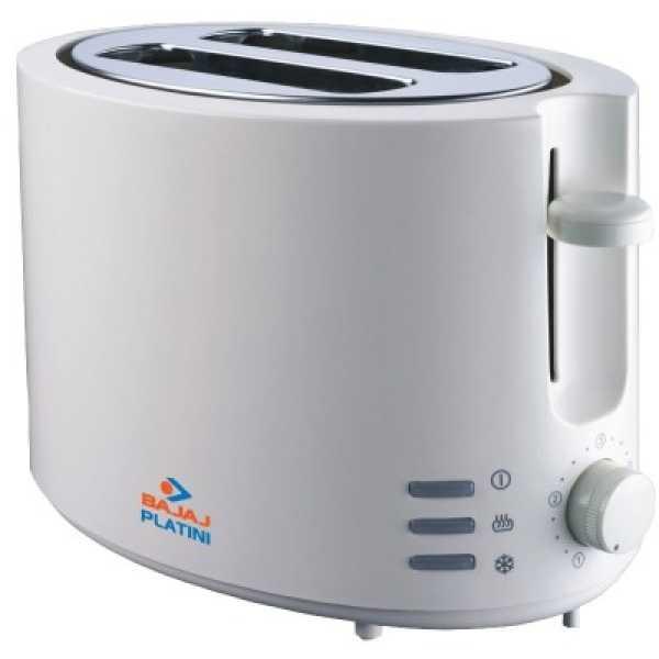 Bajaj Platini PX31T Pop Up Toaster - White