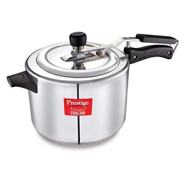 Prestige Nakshatra Plus Svachh 5 L Aluminium Pressure Cooker (Inner Lid)