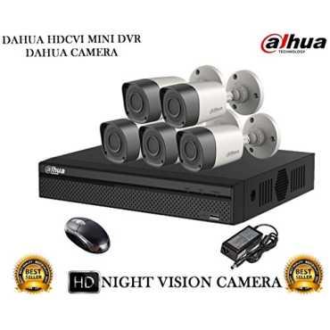Dahua DH-HCVR4108HS-S2 8CH Dvr, 5(DH-HAC-HFW1000RP) Bullet Camera (With Mouse)