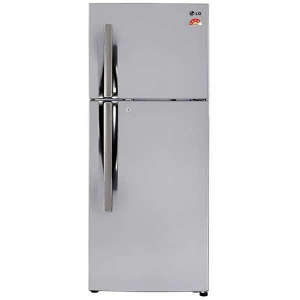 LG GL-I292RPZL 260 Litre Double Door Refrigerator - Steel | Silver
