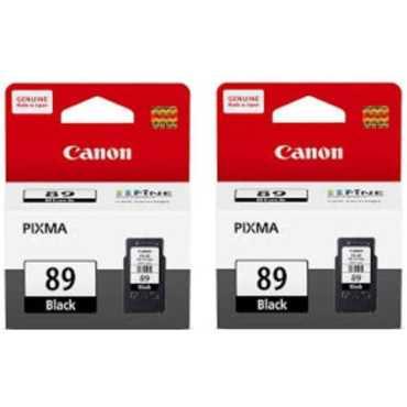Canon Pixma 89 Black Ink Cartridge (Twin Pack) - Black