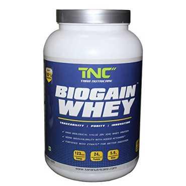 Tara Nutricare Biogain whey Protein 1kg Strawberry
