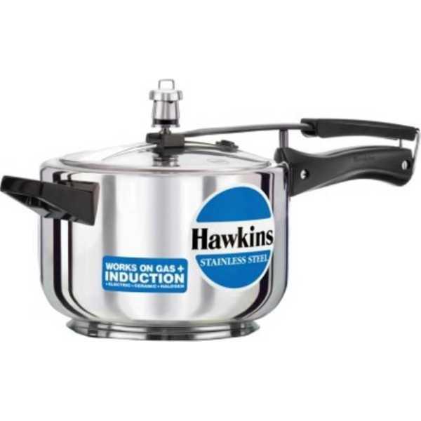 Hawkins  stainless steel 045 Aluminium 4 L Pressure Cooker (Induction Bottom,Inner Lid)