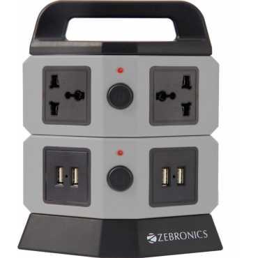 Zebronics ZEB-TS 202 4 Socket Surge Protector - Grey