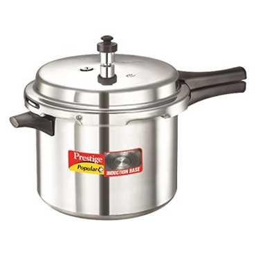 Prestige Popular Plus Aluminium 6.5 L Pressure Cooker (Induction Bottom,Outer Lid) - Silver