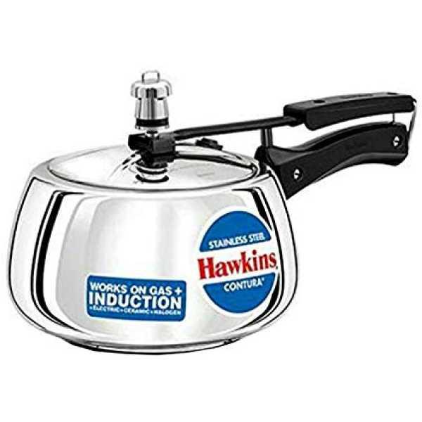 Hawkins Contura SSC50 Stainless Steel 5 L Pressure Cooker (Inner Lid)