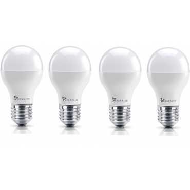 Syska 7W E27 Round LED Bulb (Yellow, Pack of 4) - Yellow