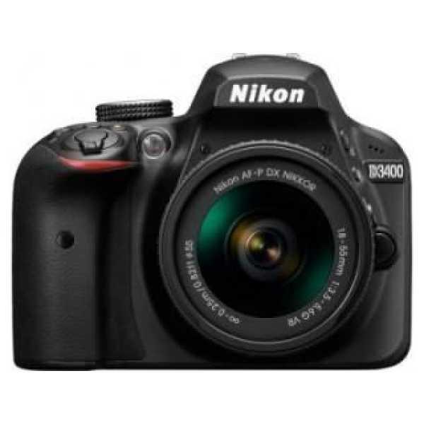 Nikon D3400 DSLR Camera (AF-P DX 18-55mm f/3.5-f/5.6G VR Kit Lens)