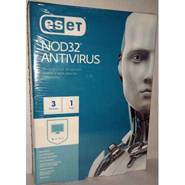Eset Nod32 Antivirus 2017 3 PC 1 Year Antivirus