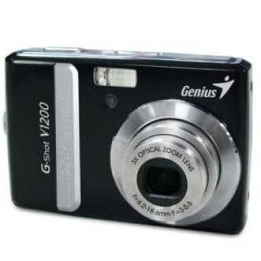 Genius G-Shot V1200 12MP Point & Shoot Camera - Black