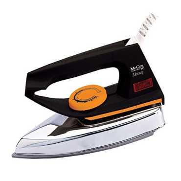 McCoy Mercury 750W Electric Iron - Orange