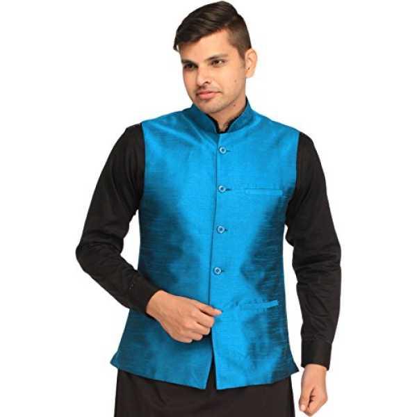Men's Plain Wedding Waistcoat with Front Pockets