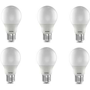 Wipro 12W E27 LED Bulb (Cool Day light, Pack Of 6) - White