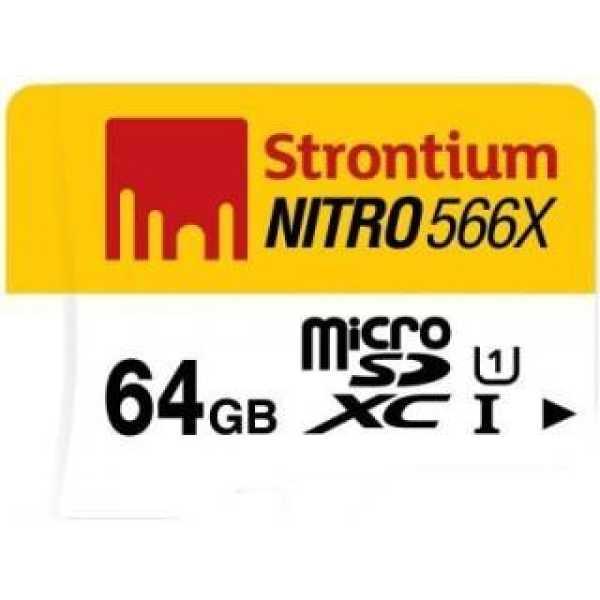 Strontium SRN64GTFU1R 64GB Class 10 MicroSDXC Memory Card