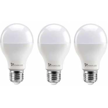 Syska 12 W Standard E27 1200L LED Bulb (White,Pack of 3) - Yellow