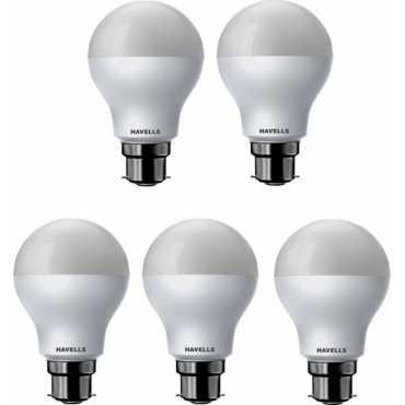 Havells 7W Standard B22 LED Bulb (White, Pack of 5) - White