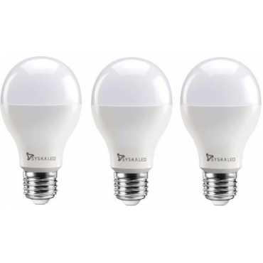 Syska 12W Round E27 1200L LED Bulb White Pack of 3