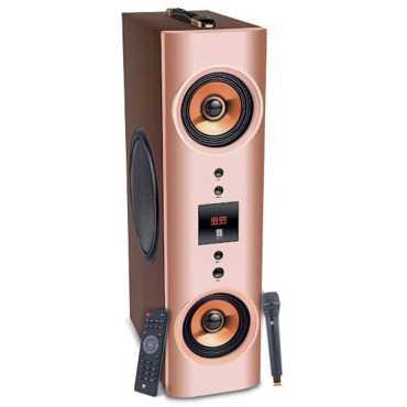 iball Karaoke Booster Tower 2.1 Channel Tower Speaker - Brown