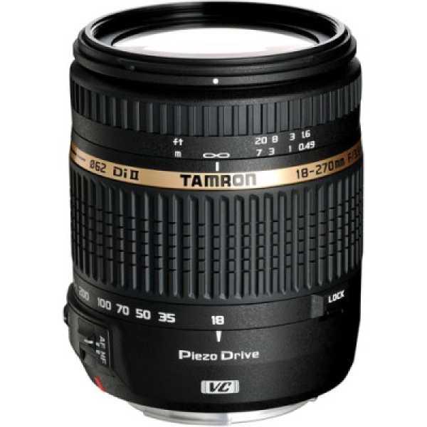 Tamron 18-270mm F/3.5 6.3 Di II VC PZD w/DA 18 Lens (for Sony DSLR) - Black
