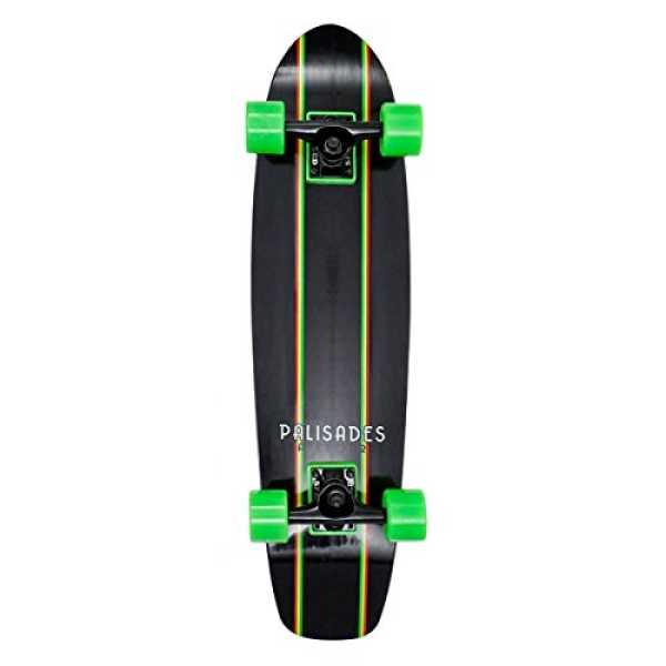 Palisades Rasta Racer Mini Skateboard - Black