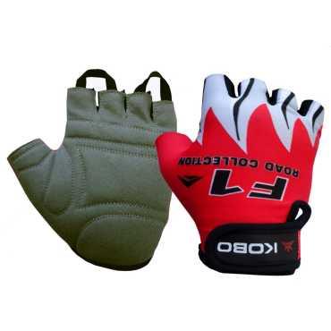 Kobo Biker Red Cycling Gloves Medium
