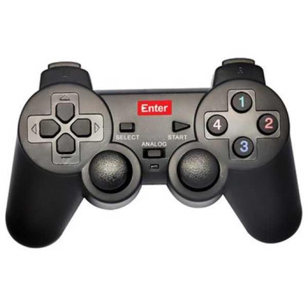 Enter E-GPV USB Game Pad W Vibration Single Player - Black