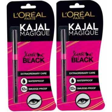 Loreal Paris Magique Kajal (Pack of 2) (Blue) - Black
