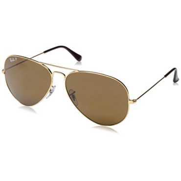 Aviator Polarized Sunglasses (Brown)(RB3025 001/57 62)