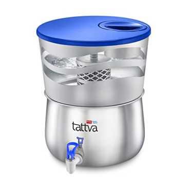 Prestige Tattva 1.0 SS 16L RO Water Purifier - Silver | Steel | Brown