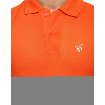 Rico Sordi Solid Men s Polo Neck Orange T-Shirt