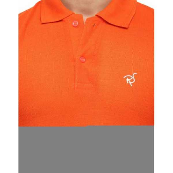 Rico Sordi Solid Men's Polo Neck Orange T-Shirt