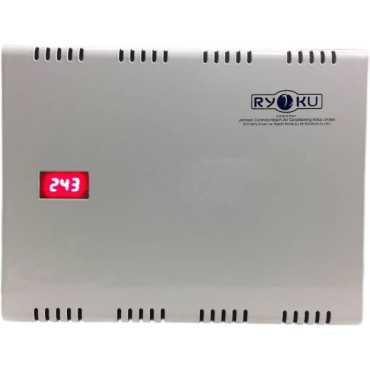 Hitachi Ryoku Double Booster Voltage Stabilizer - White