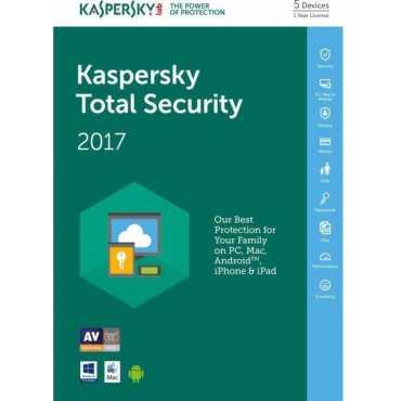 Kaspersky Total Security 2017 5 PC 1 Year Antivirus