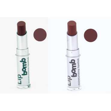 Color Fever CF Bomb Lipstick 07-08 (Chocolate, Hazelnut) (Set of 2) - Brown