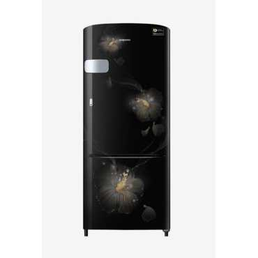 Samsung RR20N2Y2ZB3/NL 192 L 3 Star Inverter Direct Cool Single Door Refrigerator (Rose Mallow) - Black | Brown | Red