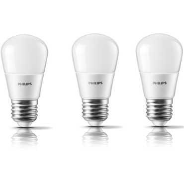 Philips 4W E27 350L LED Bulbs White Pack of 3