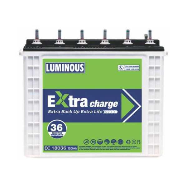 Luminous Extra Charge EC 18036 150Ah Tubular Battery