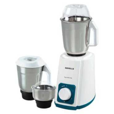 Havells Supermix 500 W Mixer Grinder (3 Jars) - White | Blue