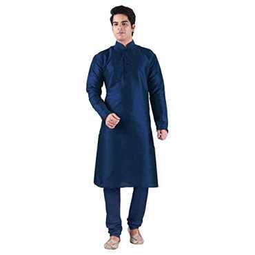 Men s Silk Blend Kurta Churidaar Set