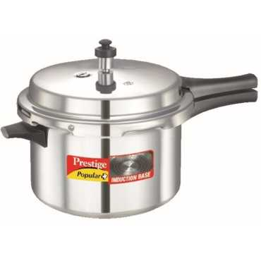 Prestige 10204 Popular Plus Aluminium 5.5 L Pressure Cooker (Induction Bottom,Outer Lid) - Silver