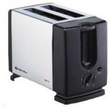 Bajaj Majesty ATX 3 2 Slice Pop Up Toaster - Black | White
