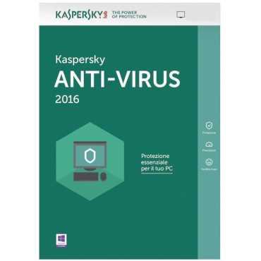 Kaspersky Antivirus 2016 2 PC 1 Year