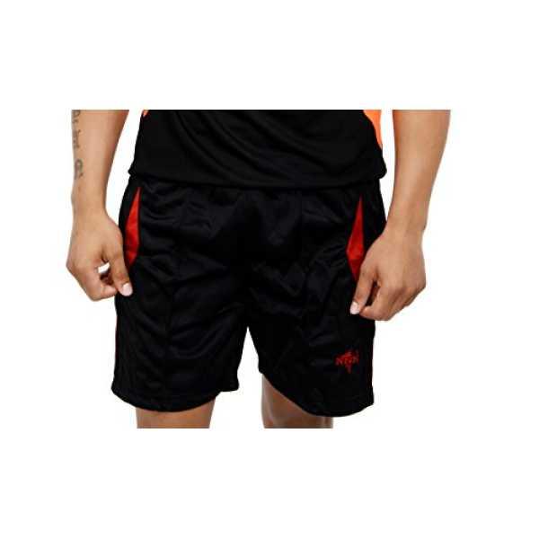 Men's Polyester Sports Shorts ( Black, XL)